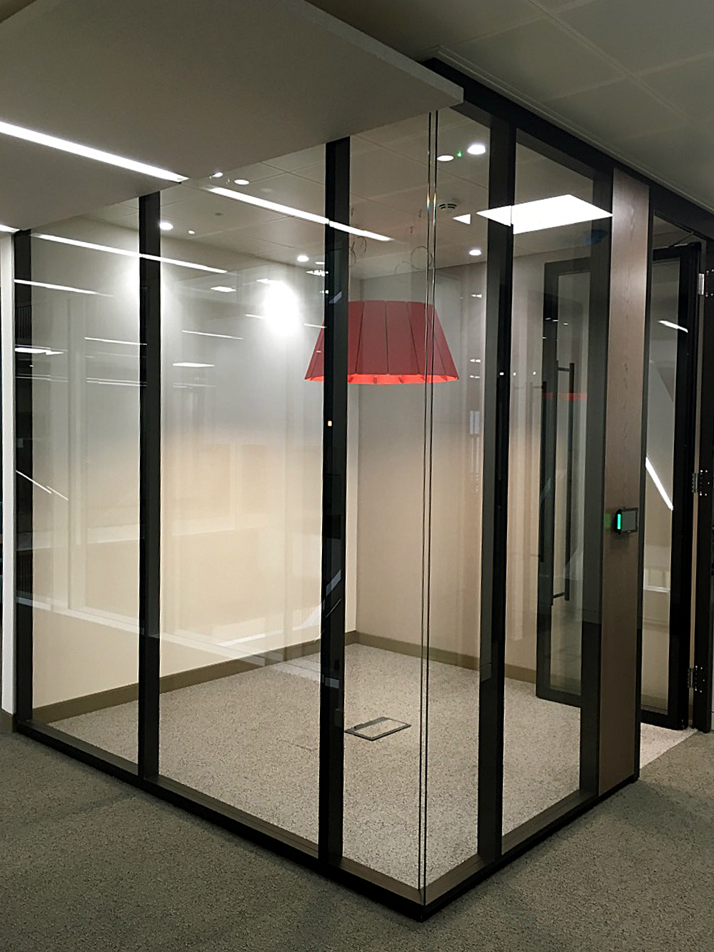 Strahle double glazed framed partition system