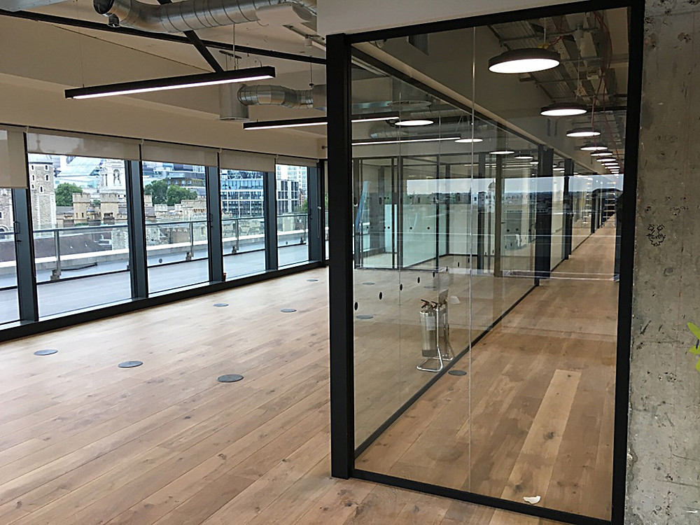 WeWork Tower Bridge after glass partitioning install