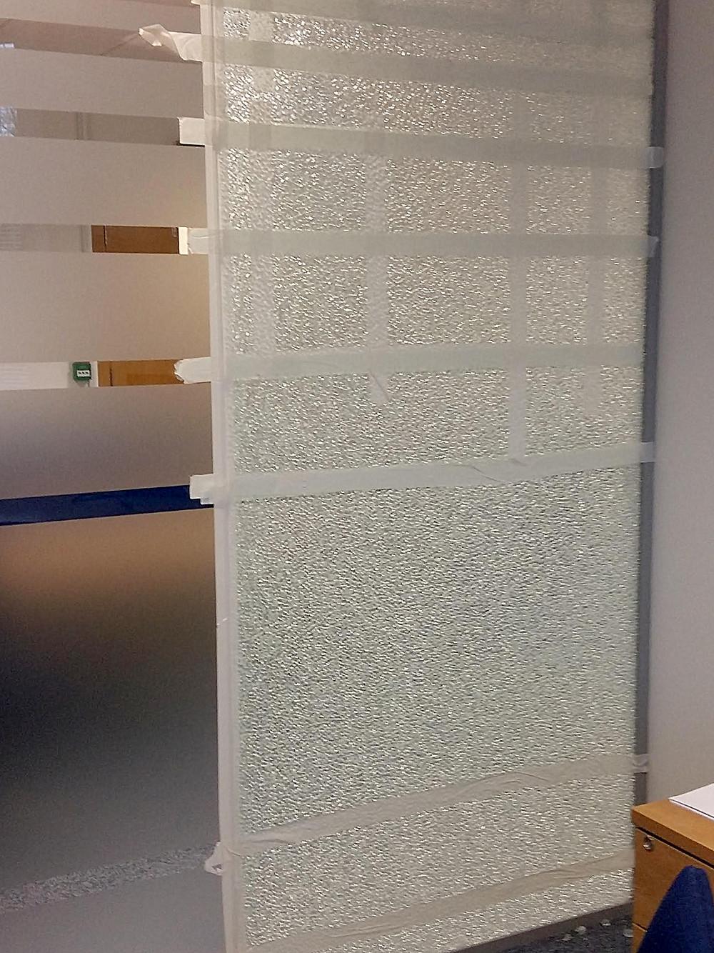 Example of Spontaneous Glass Panel Breakage