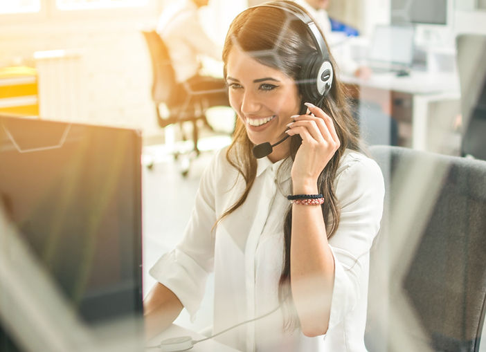Desk panel for call centre staff