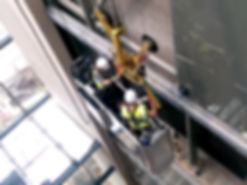 Prism Glass fitters install atrium glass