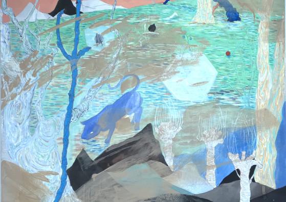 """Untitled I"" Mixed Media on Canvas, 100 x 100 cm, 2018"