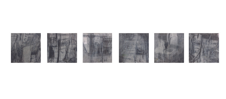 """Residues""  Pencil and Wax Crayon on Paper, 27 x  108cm, 2020  《剩夏》 鉛筆、蠟筆紙本, 27 x 108 公分 ,2020"