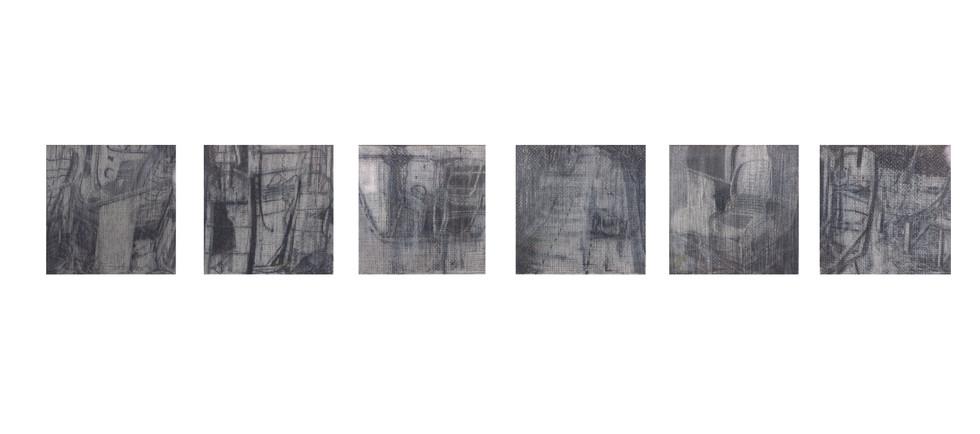 """Residues""  Pencil and Wax Crayon on Paper, 27 x  108cm, 2020  《剩夏》 鉛筆、蠟筆紙本, 27 x 108 公分 ,2020"