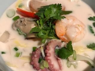 Geng Kha Talay (Seafood Galangal Soup)