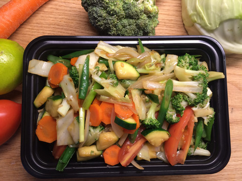 Vegan stir-fried veggie