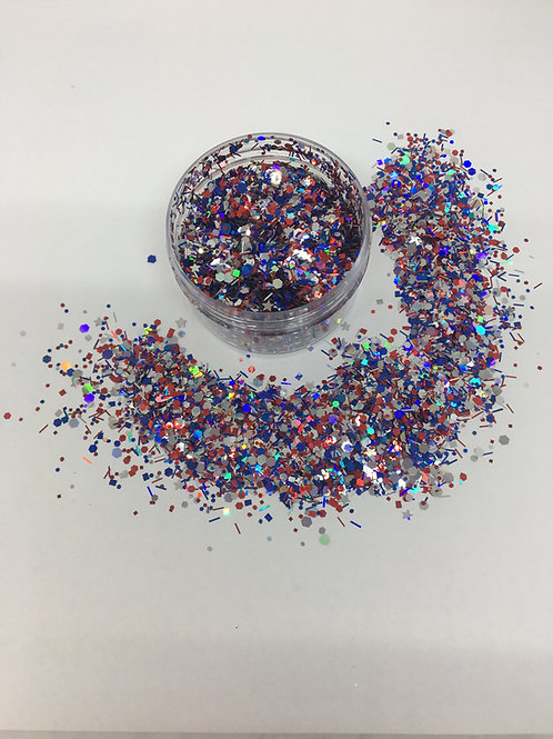 Stars & Stripes, Confetti Mix,  0.5 oz (Holiday Ltd Ed)