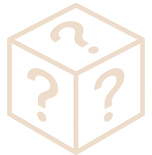a cube with question marks on the three visible faces