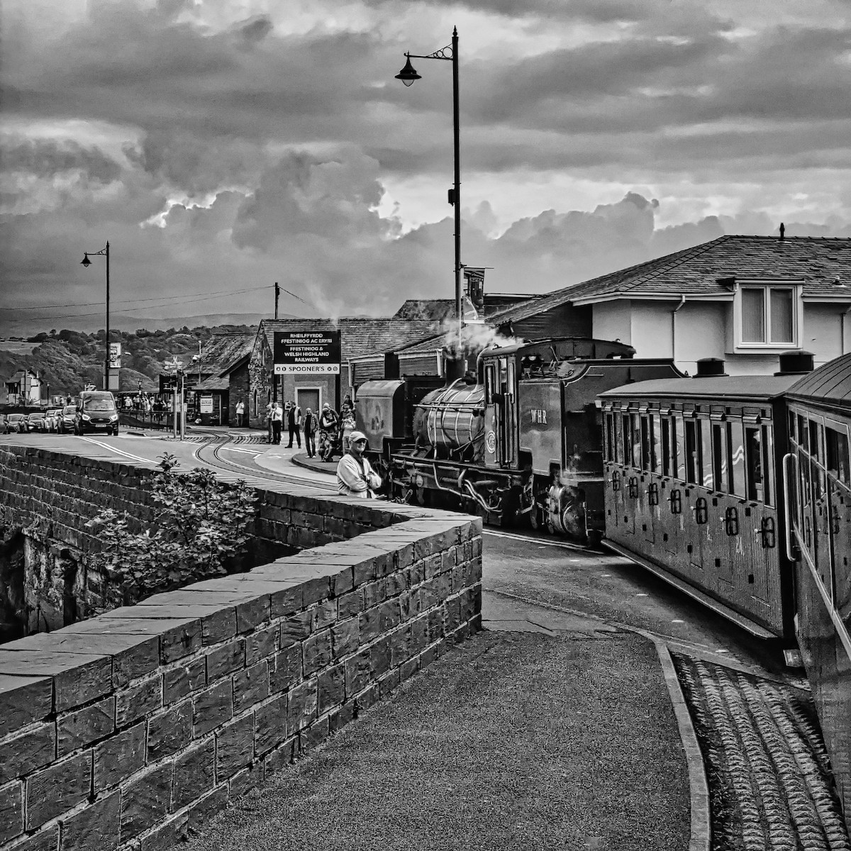 MONO - Waiting for the Train by Andrew Cameron-Mitchell ( 8 marks)