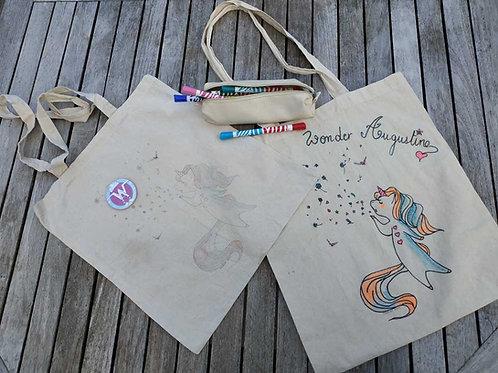 Tote bag - À dessiner + Wonder Badge