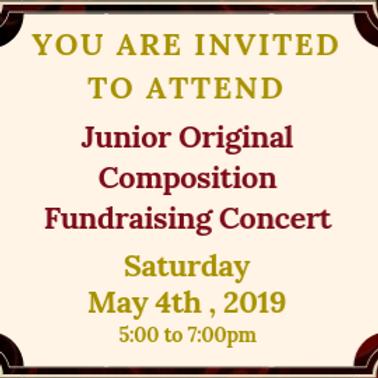 Junior Original Composition Fundraising Concert 2019