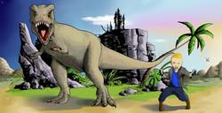 maxence et T-rex