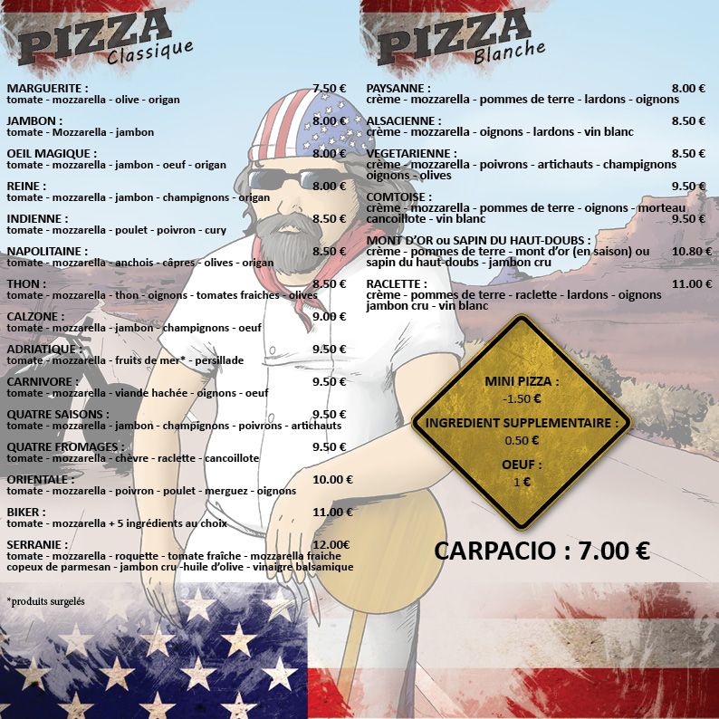 Flyer camion pizza verso