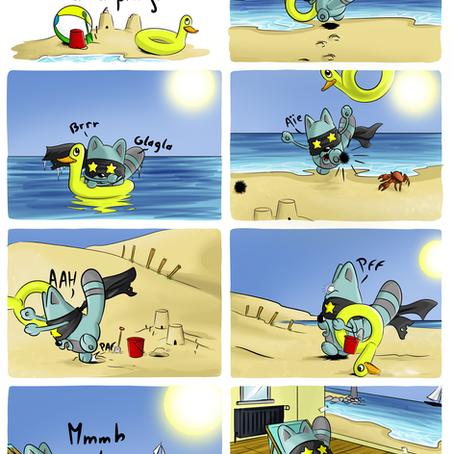 mioum-mioum - 4 - à la plage