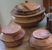 #5640 Large bowl with lid, Manitoba Maple,