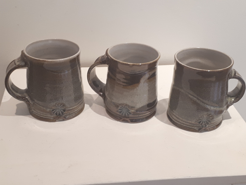 # 708 #703 #707 stoneware mugs $38 each