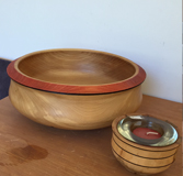#5641 Large bowl Elm wood