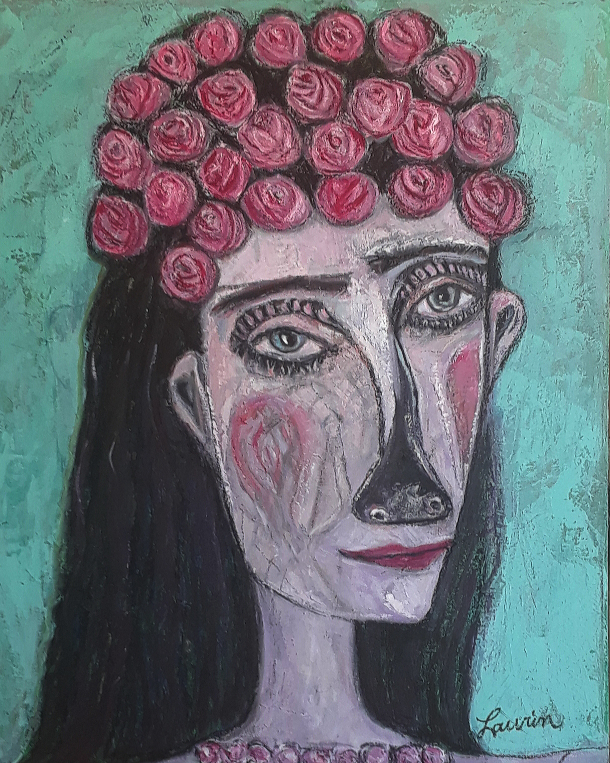 La tête en roses