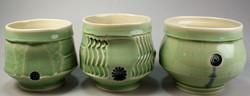 #636 Porcelain tea bowls, wine or whiske