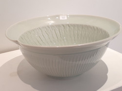 #670 Porcelain petal shaped bowl
