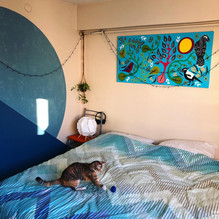 Foster cat and Untitled painting 2021.JP