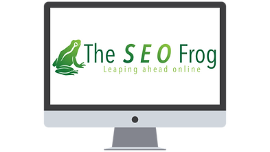 SEO Frog on a Computer