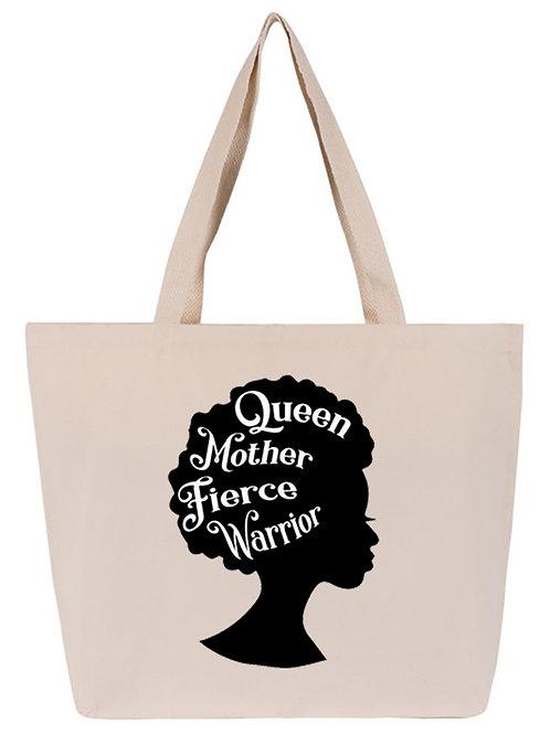 Tote Natural Queen Mother Fierce Warrior