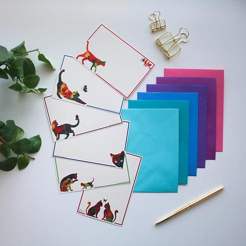 כרטיסי ברכה חתוליים על נייר ממוחזר