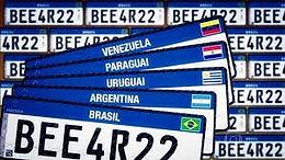 Novas Placas Mercosul