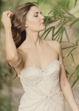 Model in a wedding dress