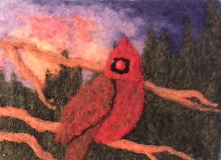 Felted cardinel