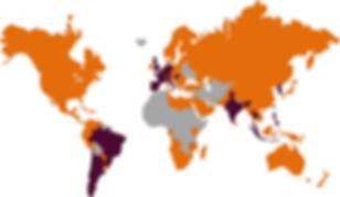Presencia de Connectis en los distintos países