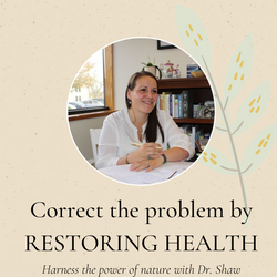 Correct the problem by RESTORING HEALTH.