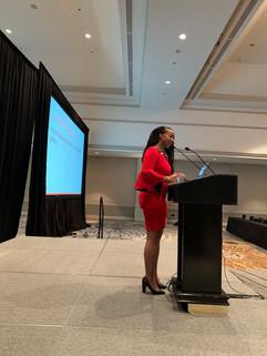 Denisha presenting at ABAI 2019