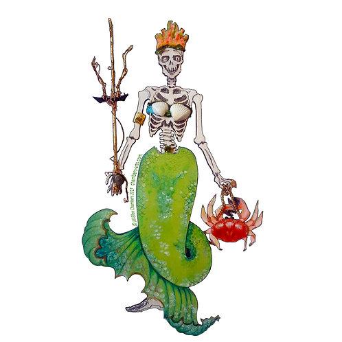 Happy Bones Mermaid sticker