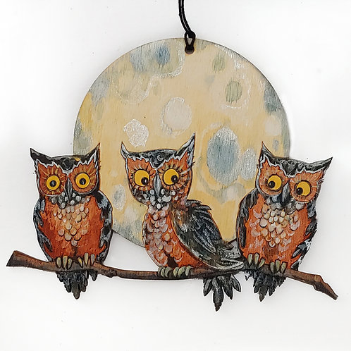 Three Hoots on a Branch