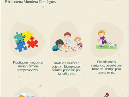 Infografía cómo promover la atención en los niños y las niñas