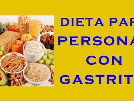Alimentación correcta para gastritis