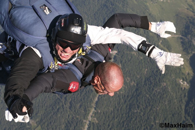 free fall above the Leventina valley