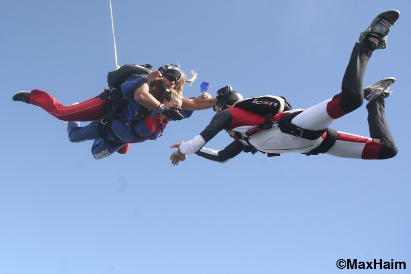free fall with the videographer