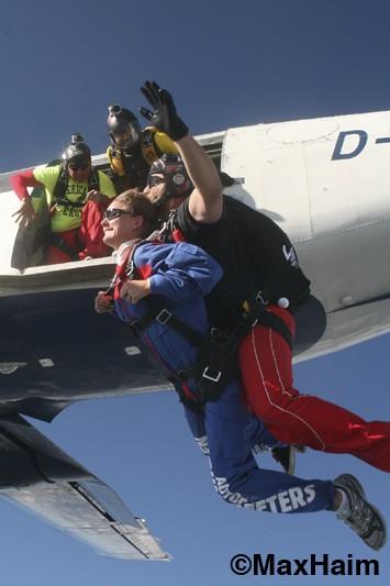 exiting the aircraft