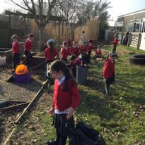 Tidying the Partnership Garden - ready to grow veg