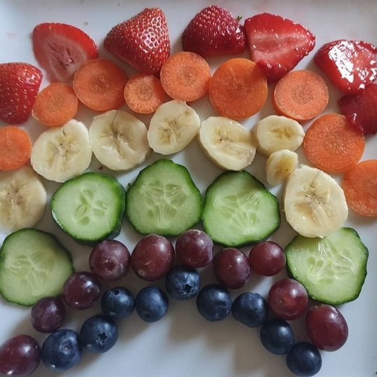 Keeping Healthy Project - Rainbow Fruit Plate