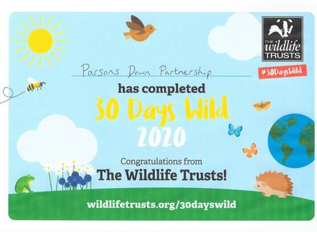 30 Days Wild Certificate