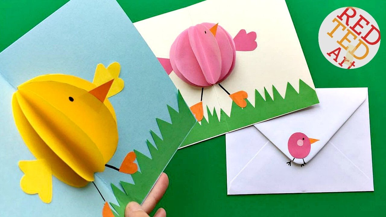 Pop-up Chick Card