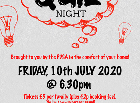 The PDSA Virtual Quiz Night
