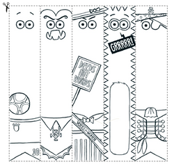 Colour-in Bookmarks