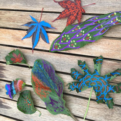 daily challenge - leaf painting - year 4