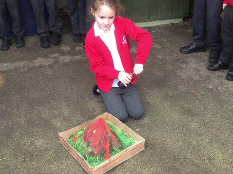 Erupting Volcanoes in Year 3!