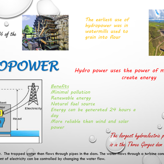 Eco Project - Energy, Hydropower Flyer